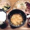 日替わり定食(この日はステーキ) 福島「食堂 山さん」